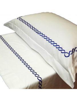 Jacky - Lenzuolo ricamato per letto rotondo