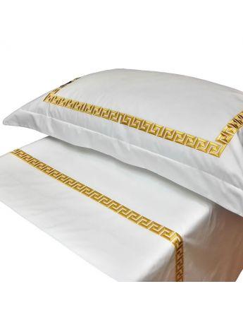 Max Premium - Lenzuolo in lino ricamato