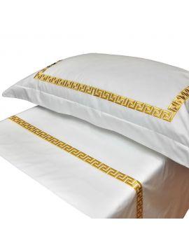 Max Premium - Federa in lino ricamata