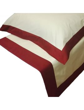 Stefanie - Lenzuolo per letto rotondo bordo in raso